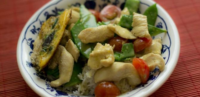 Aziatisch eten, Thais, kip, rijst