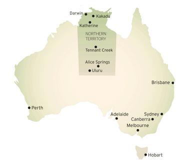 Australie map