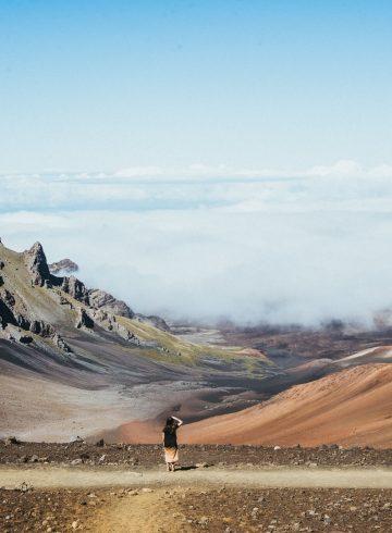 Uitzicht Haleakala krater Maui