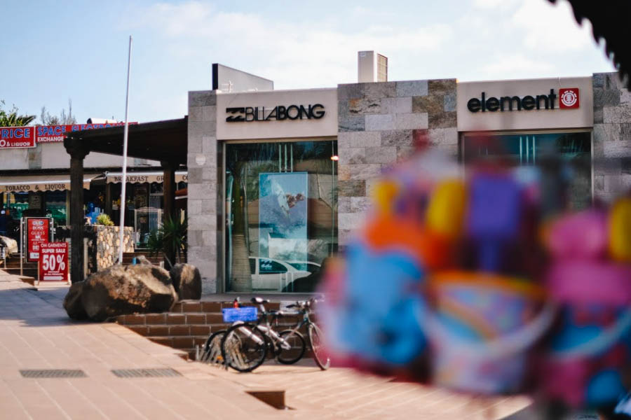 Billabong shop