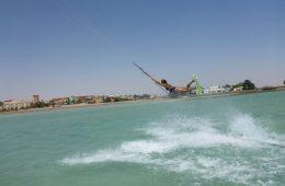 Kitesurfster Tessa