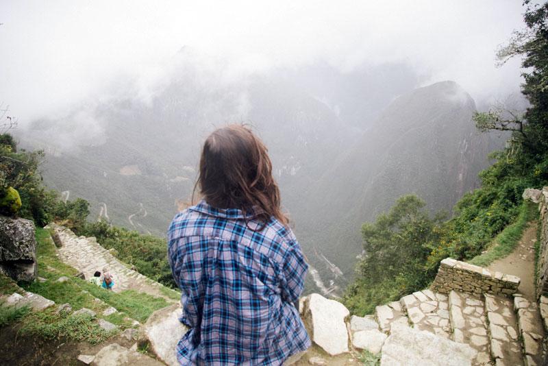 Travelblogger Evelyn in Machu Piccu