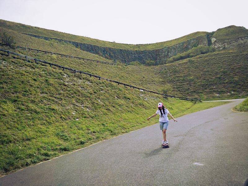 Evelyn longboarding Penley