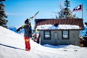 Roxy skier op berg