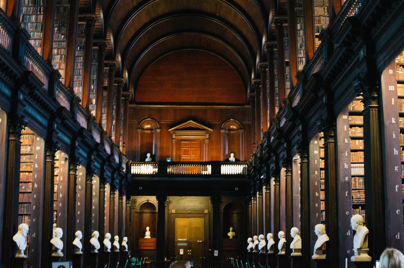 Trinity library in Dublin