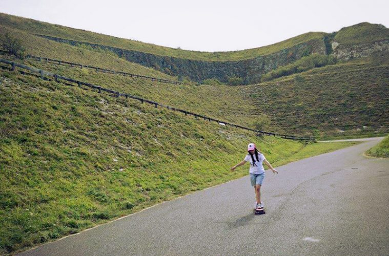Evelyn longboard in Penly Frankrijk