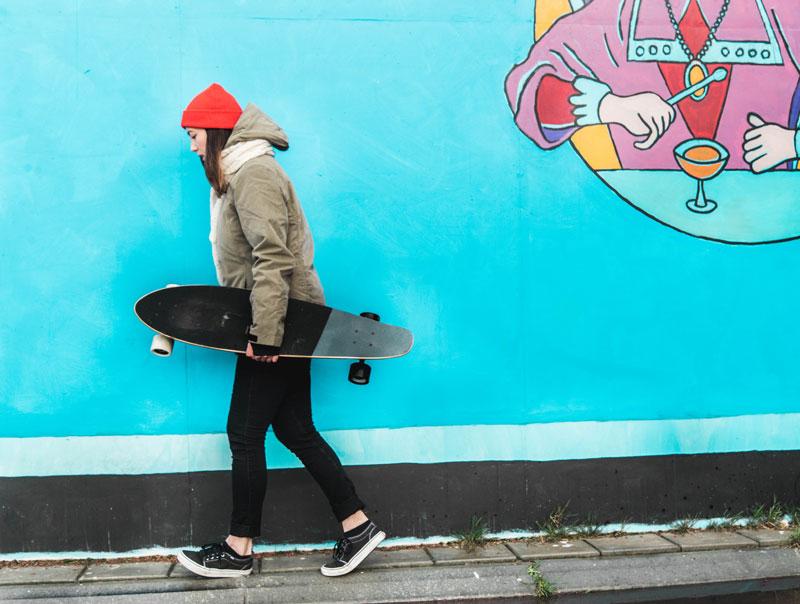 Brunotti wintercollectie en longboard