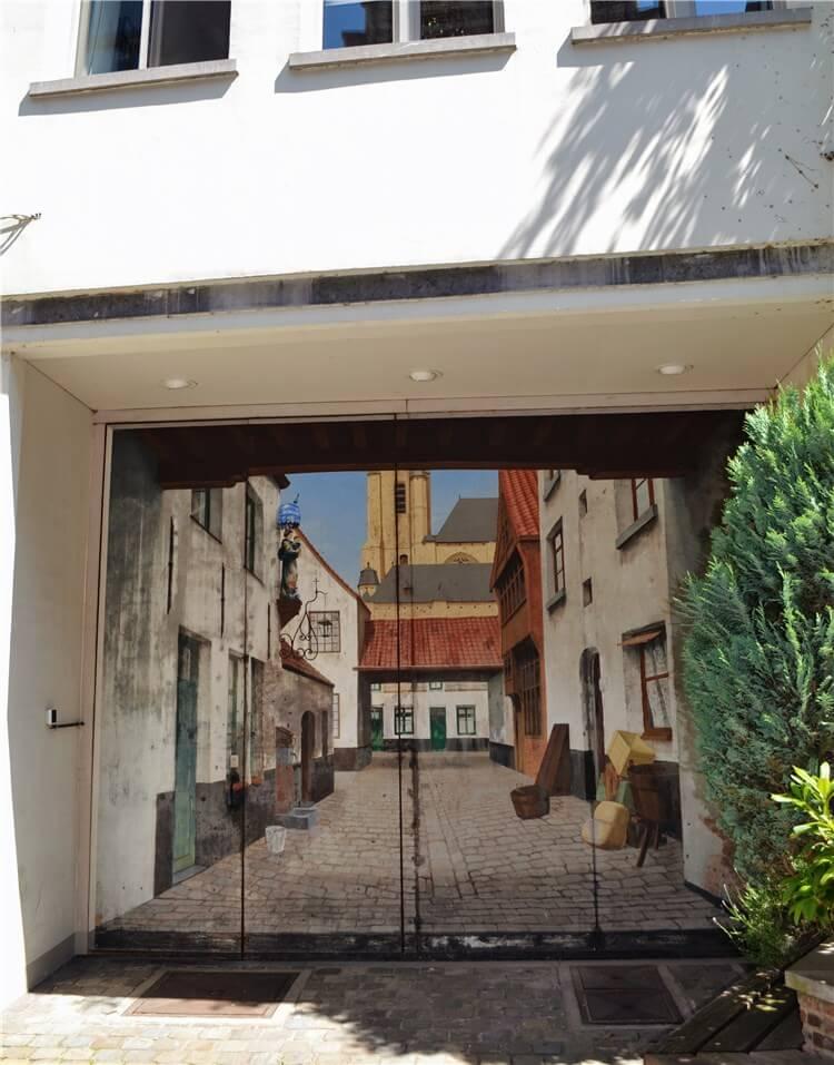 Streetart garagedeur