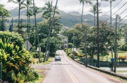 Route door Hawaii