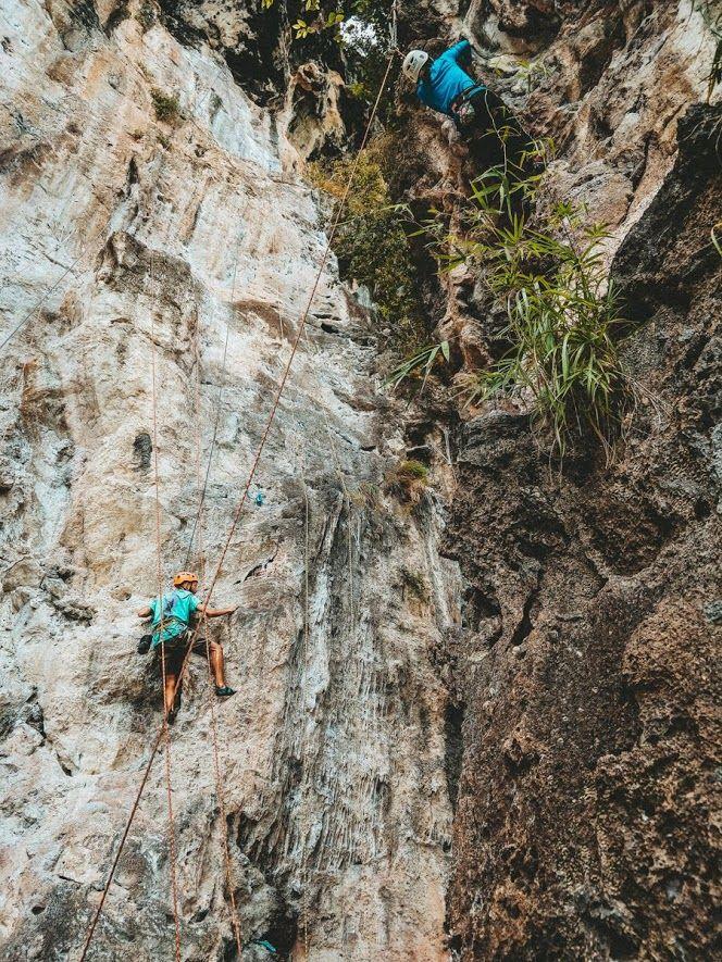 LImestones klimmen in Krabi