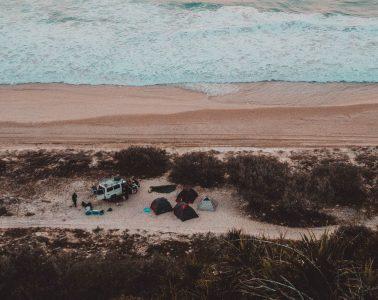 kamperen langs het strand